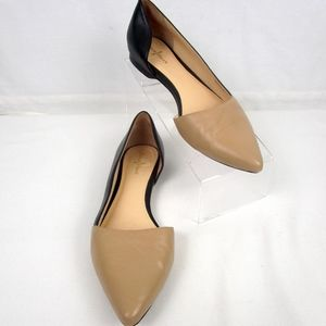 Cole Haan Nude and Black Flats shoes Size 8B